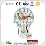 European style flowers enveloped beautiful home decoration canvas oversized designer wall clock