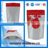 China factory Wholesale tea and coffee stand up with zipper bag plastic,stand up pouch with zipper