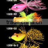 7.4g/40 mm 5colors,fishing frog bait ,stainless steel hook