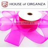 2014 Best Selling Polyester/Nylon Organza Ribbon Roll