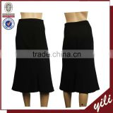 4 side stretch fabric black ladies office skirt style ladies office uniform skirts