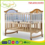 WBC-33A high gloss wooden baby bed cot bed baby convertible crib china