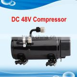 R134A mine compressor 12v/24v for portable air condition for car 12v/24v cab a/c of truck electric-vehicle Skip Loader AC Cabin