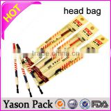 YASON packaging design header cards printed clear european opp header hanging opp envelope bags paper header card