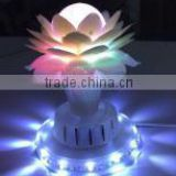 LED RGB small sun translucent balloon light with lotus cover Party Stage ballon light