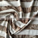 2016 newest polyester rayon yarn dyed striped knit jersey fabric,slub and printed single side fabric from Chinese manufacturer
