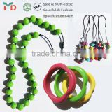 China Supplier Food Grade Soft FDA Approved BPA Free Silicone Beads and Jewelry Making