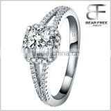 Luxury Wedding engagement ring of 925 sterling silver with shiny diamond Designs for ladies womens girls