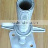 adjustable hollow screw jack base/scaffolding jack base for supporting