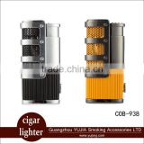 Reliable ignition cohiba Cigar torch lighter Jet Flame With cigar cutter /punch