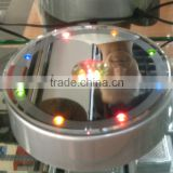 15 lights round led light rotating base for crystal model display or wedding table centerpieces and birthday gift