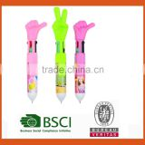 4 colors ball pen with finger shape