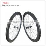 2016 new carbon clincher wheels 50mm, road bicycle wheels 50mm deep 23mm wide rims 20H/24H, 4 degree basalt braking track wheels