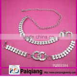 fashion metal sexy western chain belt with rhinestones
