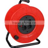 Cable Reel European GS/CE standard VDE cable Reel Thermal swtiched 4-outlet sockets H05VV-F 3X1.5mm2 25/50 meters