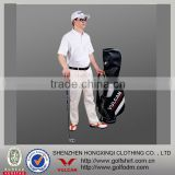 100% Polyester Dri fit Men's white color Golf Collar Shirt
