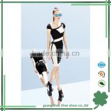 Classical black and white summer style bandage dress for girl