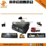 Two SD card MGPS external Wi-Fi 4G car Mobile DVR ,4ch sd card mobile dvr