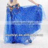 2013 new hot bellydance dress wear, belly dancing clothes,dress online blue belly dance skirts (QC0328)