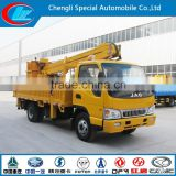 famous brand double row JAC brand new aerial working truck