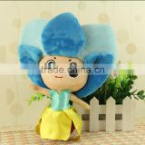 "Top Quality Custom Logo Printed 12"" Plush Toy Orchid Princesses Baby toy Stuffed Doll"