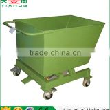 TJG high quality Warehouse Cold Rolling Steel Trolley Cart discharge
