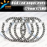 Brand new auto car & motorcycle accessories 4 x 120mm universal rgb led halo light for headlight led angel eyes kits
