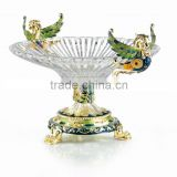 RORO Enrichment enamel crystal glass fruit holder plate home decoration household decorative display