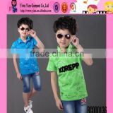 2015 New Design Printed Sport Short Summer Set High Quality Boutique Shop Hot Custom Design Baby Clothes