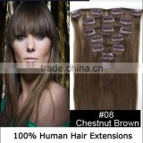 "15""-28"" Peruvian Straight Virgin Hair Beauty Forever Clip In Human Hair Extensions"