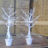 artificial crystal acrylic manzanita wedding tree for potted table centerpiece decoration