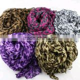 Women's Fashion Leopard Print Scarf Animal Shawl Long Pashmina voile Scarf China Wholesale
