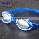 wholesale price best UV-shield mirror coated swim safety goggles wide vision glasses