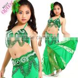 Sexy Child Little Girls Indian Belly Dance Stage Show Hip Belts Costumes Sets