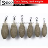 2.5oz, 3oz, 3.5oz , 4oz long casting lead sinkers Coated Tournament carp fishing lead weights