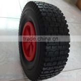 top quality competitive price black color flat free pu foam wheel barrow wheel 13x5.00-6