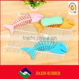 china wholesale hot sale factory price multifunction colorful silicone fish shape soap box