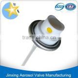 Powder aerosol valves and actuator/power aerosol spray nozzles/powder aerosol valve for can