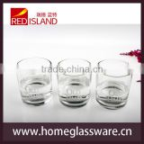 glass manufactory supply round glass whisky tumbler, whisky glass cup