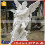 Western carving love gods wings angel marble cupid statue NTMS-R510A