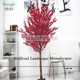 SJZJN 316 Beautiful Red Fake Peach Blossom Tree for Home or Weeding Decoration Made in China Hot Sale IN 2015