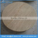 Wholesale customized round travertine granite top dining table top