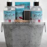6 PCS BATH SET W/STEEL DRUM