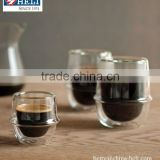 hand blown borosilicate double wall glasses coffee glasses
