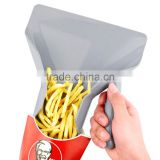 Plastic Chips Scoop Food French Fries bagger Handle Fry Scoop