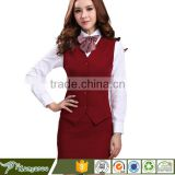 Receptionist Captain Uniform Hotel Front Office Chinese Collar