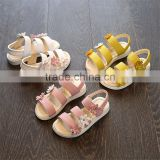 wholesale high quality summer baby girl Comfortable flat sandals Pure color Roman jelly shoes
