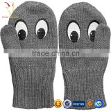 Cheap Winter Black Cashmere Fingerless Gloves UK