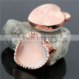 Rose Quartz Healing Point Gemstone Beads Chakra Reiki Crystal Heart Pendant For Jewelry Diy