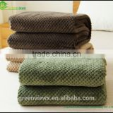 Flannel weave blanket super soft flannel blanket from china supplier knitted flannel fleece blanket for baby